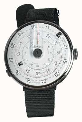 Klokers Klok 01 correa de reloj negro textil negro sola correa KLOK-01-D2+KLINK-03-MC3