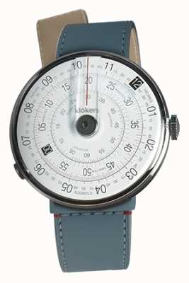 Klokers Klok 01 black watch head blue jean strait single strap KLOK-01-D2+KLINK-04-LC10