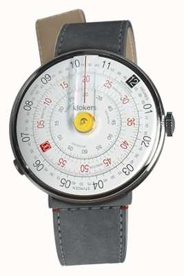 Klokers Klok 01 yellow watch head gris alcantara strait single strap KLOK-01-D1+KLINK-04-LC11
