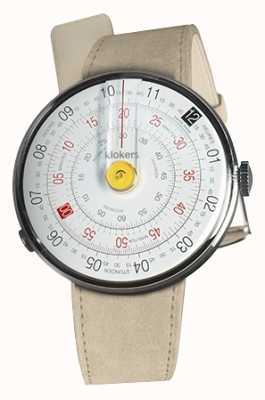 Klokers Klok 01 yellow watch cabeza gris alcantara single strap KLOK-01-D1+KLINK-01-MC6