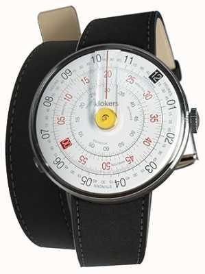 Klokers Klok 01 reloj amarillo cabeza estera negro 420mm correa doble KLOK-01-D1+KLINK-02-420C2