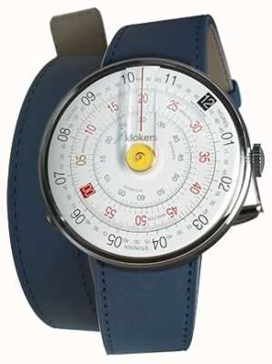 Klokers Klok 01 yellow watch cabeza índigo azul 420mm correa doble KLOK-01-D1+KLINK-02-420C3