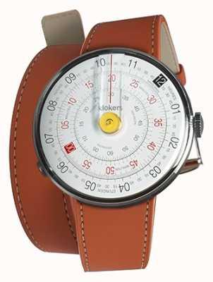 Klokers Klok 01 reloj amarillo cabeza naranja 420mm correa doble KLOK-01-D1+KLINK-02-420C8