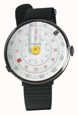 Klokers Klok 01 yellow watch head negro textil single strap KLOK-01-D1+KLINK-03-MC3