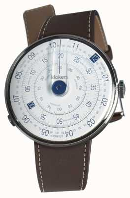 Klokers Klok 01 blue watch cabeza marrón chocolate solo correa KLOK-01-D4.1+KLINK-01-MC4
