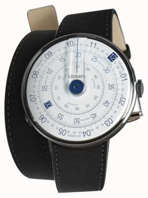 Klokers Klok 01 reloj azul cabeza estera correa doble negro KLOK-01-D4.1+KLINK-02-380C2