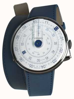 Klokers Klok 01 blue watch head añil azul doble correa KLOK-01-D4.1+KLINK-02-380C3