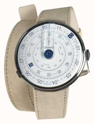 Klokers Klok 01 blue watch cabeza gris alcantara 420mm doble correa KLOK-01-D4.1+KLINK-02-420C6