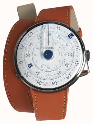 Klokers Klok 01 azul reloj cabeza naranja 420mm doble correa KLOK-01-D4.1+KLINK-02-420C8