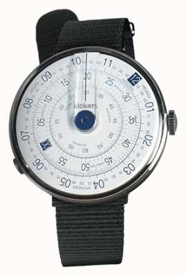 Klokers Klok 01 blue watch head negro textil sola correa KLOK-01-D4.1+KLINK-03-MC3