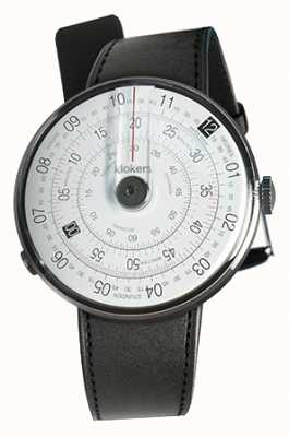 Klokers Correa de reloj Klok 01 negra negra satinada sola correa KLOK-01-D2+KLINK-01-MC1