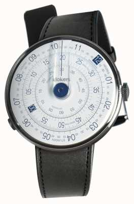 Klokers Klok 01 blue watch head negro satin single strap KLOK-01-D4.1+KLINK-01-MC1