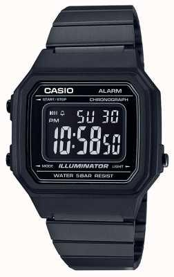 Casio Iluminador digital clásico núcleo vintage negro con recubrimiento ip B650WB-1BEF