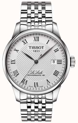 Tissot Mens le locle powermatic 80 reloj automático de acero inoxidable T0064071103300