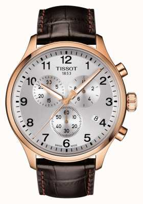 Tissot Hombres chrono xl classic rose gold pvd leather T1166173603700