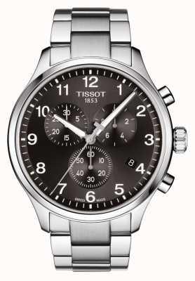 Tissot Mens chrono xl classic black dial pulsera de acero inoxidable T1166171105701