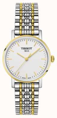 Tissot Para mujer cada dos tonos pulsera chapada en oro T1092102203100