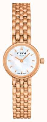 Tissot Dial de la fregona plateado pvd precioso del oro color de rosa de las mujeres T0580093311100