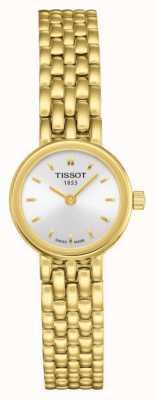 Tissot Pulsera chapada en oro preciosa para mujer plateada esfera plateada T0580093303100