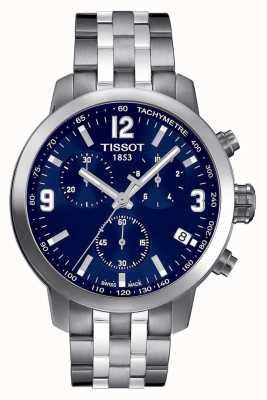Tissot Mens prc 200 cronógrafo azul marcar dos tonos T0554171104700