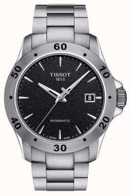 Tissot Mens v8 swissmatic dial negro brazalete de acero inoxidable T1064071105100