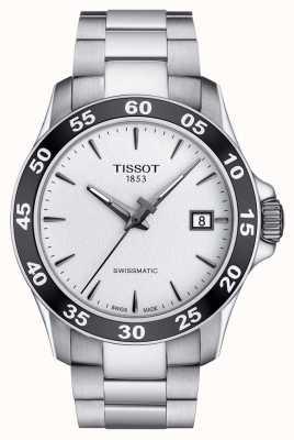 Tissot Mens v8 swissmatic dial plata pulsera de acero inoxidable T1064071103100