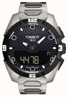 Tissot Sensor gemelo de la pulsera del titanio solar experto t-touch para hombre T0914204405100
