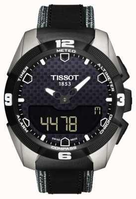 Tissot Hombres t-touch experto solar de doble sensor de titanio de cuero T0914204605101