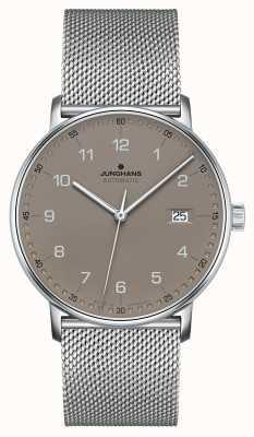 Junghans Forma una pulsera automática de malla milanesa 027/4836.44