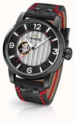 TW Steel Son of time supremo edición limitada correa de cuero negro TWMST6
