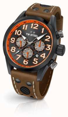 TW Steel Coronel dakar edición limitada correa de cuero marrón esfera negra TW975