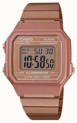 Casio Vintage núcleo iluminador digital clásico oro rosa B650WC-5AEF