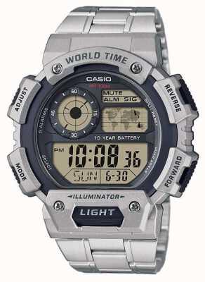 Casio Cronógrafo con alarma mundial AE-1400WHD-1AVEF