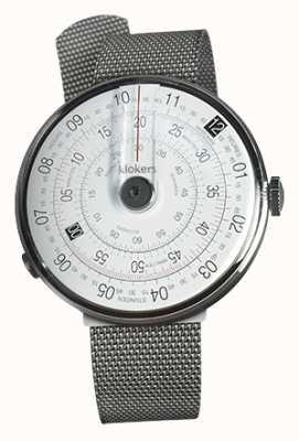 Klokers Klok 01 correa de milano de acero con cabeza de reloj negra KLOK-01-D2+KLINK-05-MC1