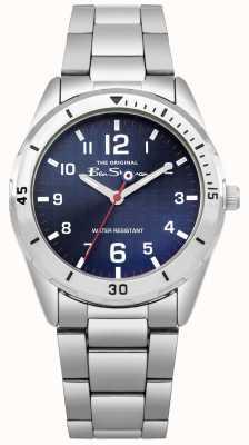 Ben Sherman Conjunto de regalo de cartera y reloj azul para niños BSK002USM