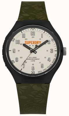 Superdry Sd ejército urbano xl tropic cam correa de color caqui SYG225N