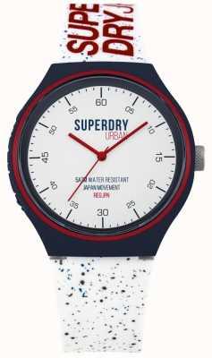 Superdry Correa de silicona blanca azul urbano xl fleck SYG227W