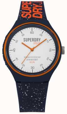 Superdry Urban xl fleck correa de silicona azul marino SYG227U