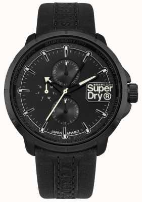 Superdry Guardabarros de Kyoto correa negra esfera negra SYG218BB