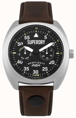 Superdry Scout aviator date & day display correa negra SYG229BR
