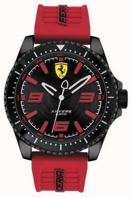 Scuderia Ferrari Xx kers esfera negra correa de goma roja 0830498