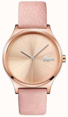 Lacoste Nikita rose gold dial & case correa de cuero rosa 2001014