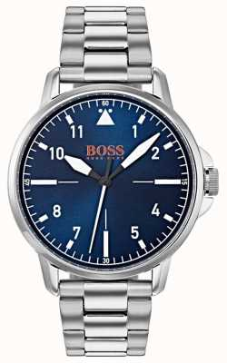 Hugo Boss Orange Pulsera de acero inoxidable con esfera azul 1550063