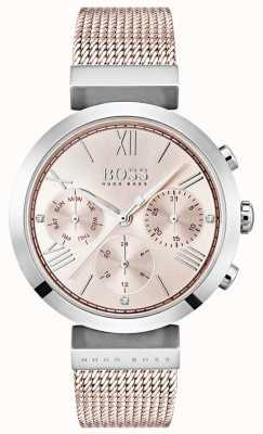 Hugo Boss Cronógrafo rosado marcar día y fecha sub diales 1502426