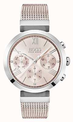 Boss Cronógrafo esfera rosa dia y fecha sub dials 1502426