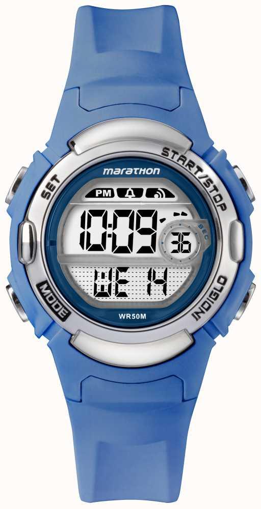 39e2c2c9c04e Timex Marathon Deportes Digitales Reloj Correa Azul Claro TW5M14400 ...