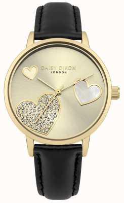 Daisy Dixon Señoras hollie caja de oro cristal corazones DD076BG