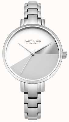 Daisy Dixon Señoras ava plata color tres dial brazalete de acero plateado DD065SM