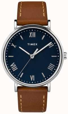 Timex Mens southview 41mm cuero correa correa azul TW2R63900D7PF
