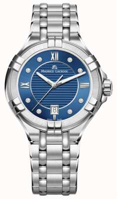 Maurice Lacroix Para mujer aikon esfera azul acero inoxidable 35mm AI1006-SS002-450-1